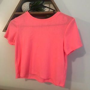 never worn H&M neon cropped shirt